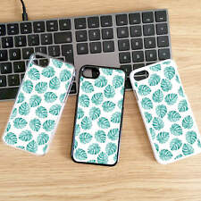 Tropical Palm Leaves Hard/Plastic CoverPhone Case for iPhone 6 & Samsung S8