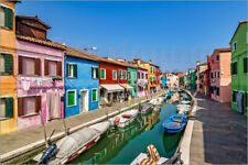 Póster, lienzo o cuadro en metacrilato Fishing village of Burano - Achim Thomae