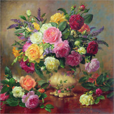 Poster / Toile / Tableau verre acrylique Roses from a Victori... - A. Williams