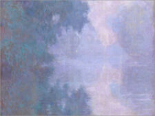 Poster / Toile / Tableau verre acrylique A Morning on the Seine ... - C. Monet