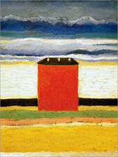 Póster, lienzo o cuadro en metacrilato The red house - K. Malewitsch