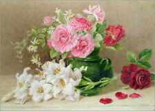Póster, lienzo o cuadro en metacrilato Roses and Lilies - M. Duffield