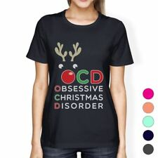 Rudolph OCD Womens Obsessive Christmas Disorder T-Shirt For Her
