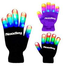 Cotton Hand Gloves Flashing LED Light Kids Size Adult Size With Extra Batteries
