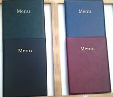 QTY 1 A4 LEATHER LOOK MENU HOLDER/FOLDER/COVER  chord type --NYLON REINFORCED