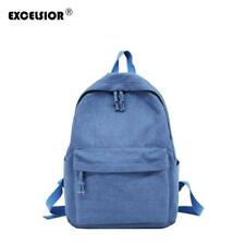EXCELSIOR 2018 New Solid Denim School Backpack For Women Young Girl Lona Escolar