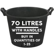 70L HEAVY DUTY PLASTIC SIDE HANDLES PLANT POTS GARDEN TREE HYDROPONIC CONTAINERS