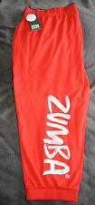 ZUMBA Z BE JAMMIN CAPRIS/ BOTTOMS- ORANGE - SIZE M  - BNWT