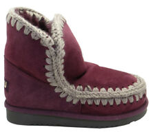 "MOU: STIVALI ""ESKIMO 18"" IN SHEARLING VIOLA 20MM"