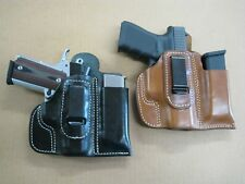 Azula Leather IWB Combo Holster / Mag Pouch CCW For..Choose Gun & Color - 2