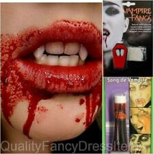 Vampire Adults Costume Accessories Fangs & or Blood Halloween Fancy Dress Scary