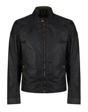 Belstaff Kelland Coffee Racer Wax Jacket Black