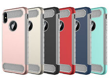 For iPhone XS XR MAX Luxury Slim Shockproof Hybrid Case Cover + Screen Protector