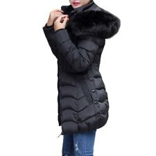 Jackets Women Casual Solid Zipper Pocket Padded Thick Winter Coats For Ladies