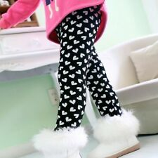 Autumn Winter Girl Pants Velvet Thicken Warm Elastic Waist Spandex Kids Leggings