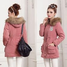 Ladies Jacket Hooded Women For Long Coats Winter Thicken Casual Zipper Polyester