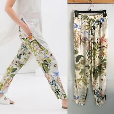Zara Women's Floral Printed Trousers Pants Size s NGQ