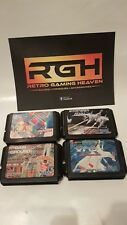 SEGA MEGA DRIVE JAP GAME CARTS WORKING GAIN GROUND, XDR, DARWIN, KLAX
