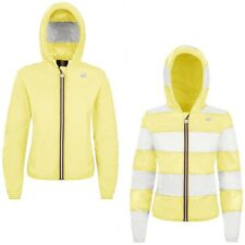 K-WAY LILY PLUS DOUBLE INSERTED giacca reverse KWAY DONNA Giallo Righe New 901ra