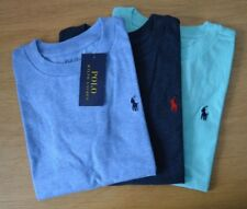 RALPH LAUREN Boys cotton Tshirt tee t-shirt top blue turquoise AGE 6 to 9 Years