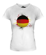 GERMANY FOOTBALL LADIES T-SHIRT TEE TOP GIFT WORLD CUP SPORT