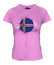 ICELAND FOOTBALL LADIES T-SHIRT TEE TOP GIFT WORLD CUP SPORT
