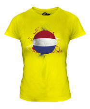 NETHERLANDS FOOTBALL LADIES T-SHIRT TEE TOP GIFT WORLD CUP SPORT