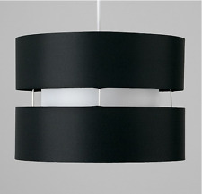 Light Shade Modern 2 Tier Cylinder Ceiling Pendant Various Colours NEW Lampshade