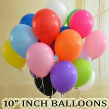 """10"""" Party Ballons Rainbow 6 Colour Mix of Latex Helium & Air Fill Event Decor"""