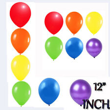 "Party Ballons Rainbow 6 Colour Mix of 12"" Metallic Helium & Air Fill Event Deco"