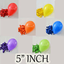 """Rainbow 6 Colour Mix of 5"""" Party Ballons Latex Helium & Air Fill Event Decor"""