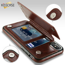 Magnetic Leather Wallet Case Card Slot Shockproof Flip Cover for iPhone X XS 8 7