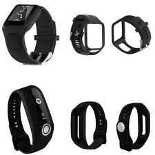 Replacement Black Silicone Strap Band For TomTom Runner 2 3 Spark 3 GPS Watch
