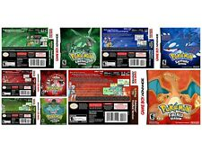 Pokemon gba Game Boy Advance replacement game case and covers most gba covers