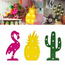 Table Lamps Led Flamingo Night Marquee Sign Star Cactus Wall Moon Light Kid Baby