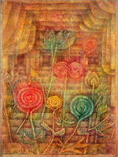 Poster, stampa su tela o vetro acrilico Spiral Flowers - Paul Klee