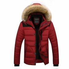 Hooded Jacket Winter For Men Casual Slim Coats Broadcloth Polyester Zipper Solid