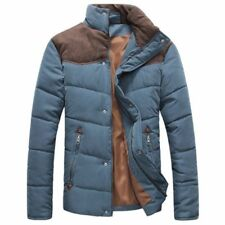 Jacket Winter Men Causal Cotton Collar Male Padded Zipper Polyester Broadcloth