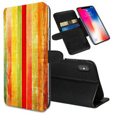 VERTICAL STRIPES Printed Stand Wallet Case for Samsung Galaxy Models - 0022