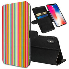 VERTICAL STRIPES Printed Stand Wallet Case for Samsung Galaxy Models - 0017