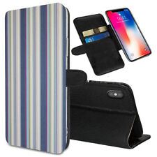 VERTICAL STRIPES Printed Stand Wallet Case for Samsung Galaxy Models - 0042