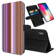 VERTICAL STRIPES Printed Stand Wallet Case for Samsung Galaxy Models - 0023