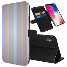 VERTICAL STRIPES Printed Stand Wallet Case for Samsung Galaxy Models - 0013