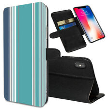 VERTICAL STRIPES Printed Stand Wallet Case for Samsung Galaxy Models - 0003