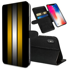 VERTICAL STRIPES Printed Stand Wallet Case for Samsung Galaxy Models - 0008