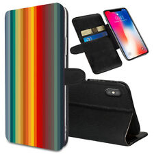 VERTICAL STRIPES Printed Stand Wallet Case for Samsung Galaxy Models - 0034