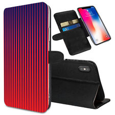 VERTICAL STRIPES Printed Stand Wallet Case for Samsung Galaxy Models - 0030