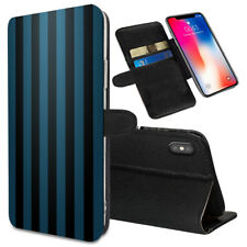 VERTICAL STRIPES Printed Stand Wallet Case for Samsung Galaxy Models - 0040