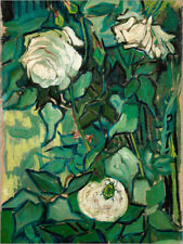 Póster, lienzo o cuadro en metacrilato Roses and Beetle - Vincent van Gogh