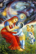 Poster, stampa su tela o vetro acrilico Krishna shows mother Yasoda the universe